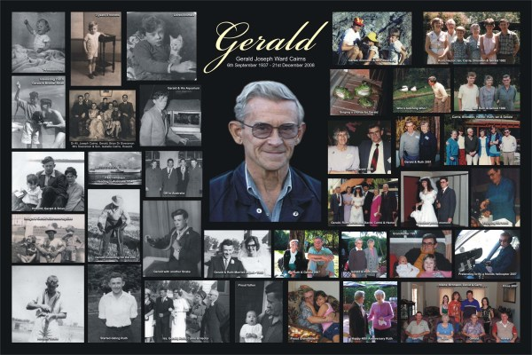 Gold Memorial Funeral Collage Ideas Vtwctr
