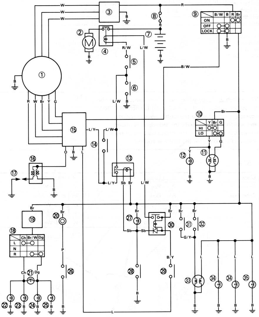 medium resolution of circuit diagram of xt225 yamaha xt225 wiring diagram circuit diagram of xt225d us model