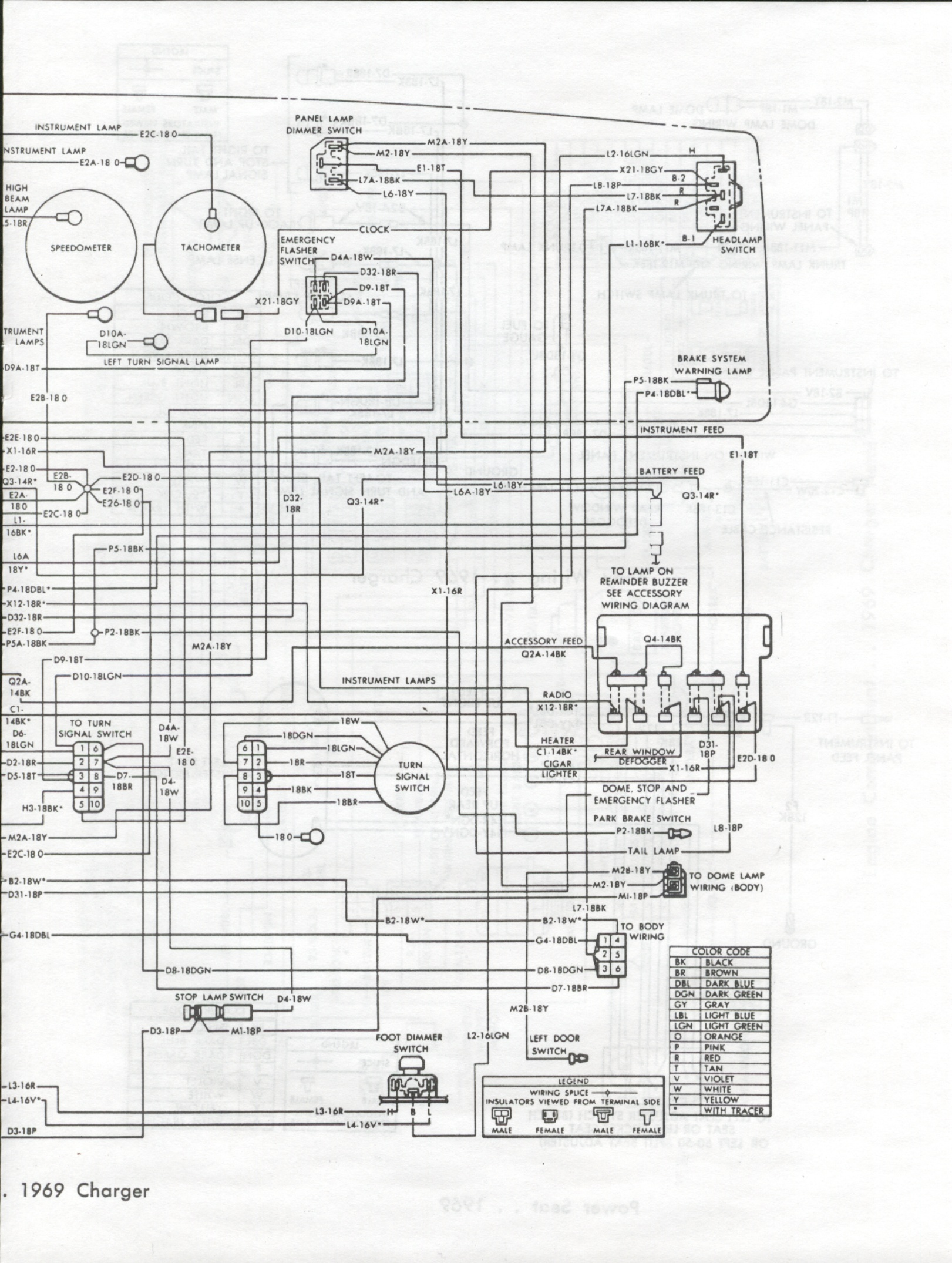 hight resolution of 1969 dodge charger wiring diagram