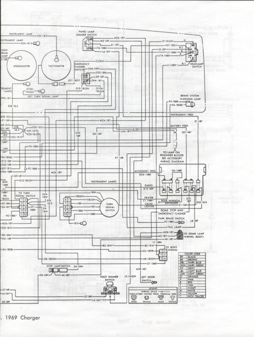 small resolution of 1969 dodge charger wiring diagram