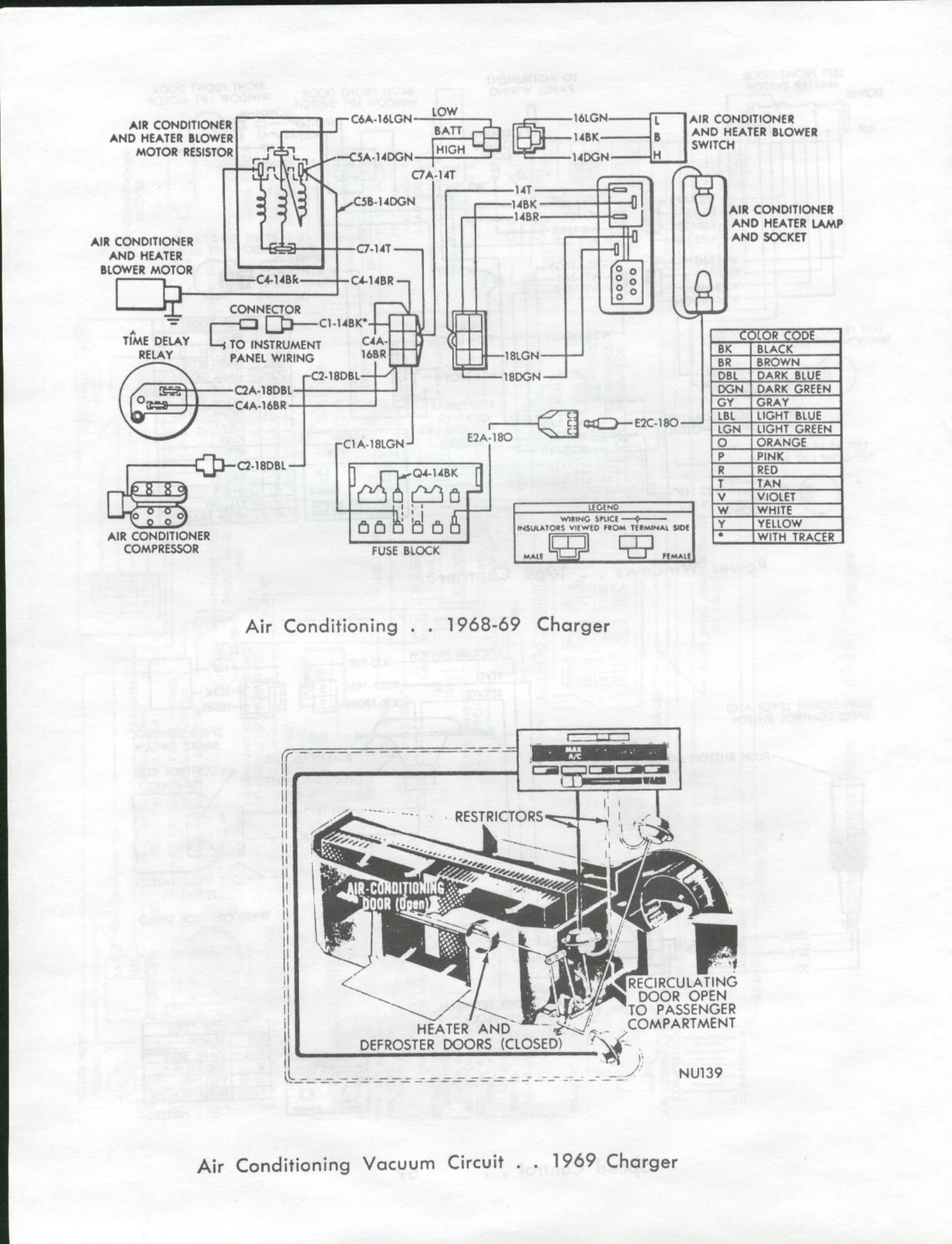 [WRG-3746] 69 Charger Headlight Wiring Diagram