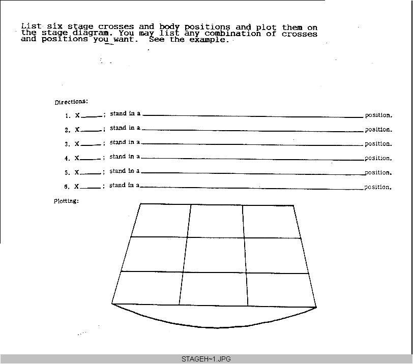 stage directions diagram valence dot stdir2 handout 1