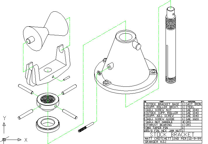 Mechanical Assembly Drawing