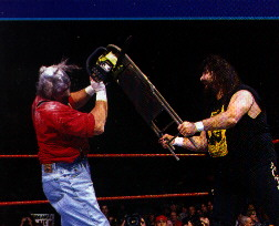wrestling chair shots office seat cover mick foley