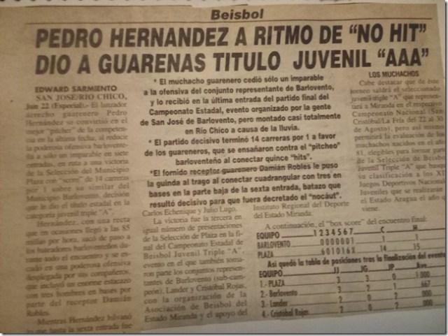 No_Hit_No_Run_Para_Ganar_Campeonato_Juvenil_Nacional