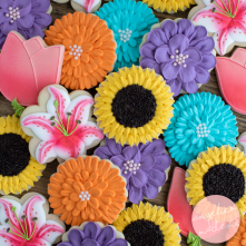 Mixed Flower Garden Party Cookies