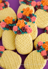 Pineapple Flower Centerpiece Cookies