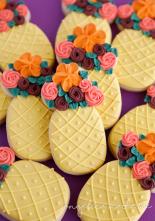 Pineapple Flower Centerpiece Cookies