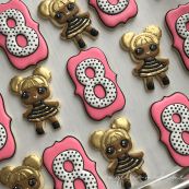 LOL Queen Bee Birthday Cookies