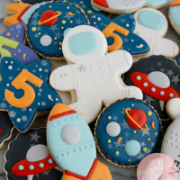 Custom Decorated Birthday Cookies
