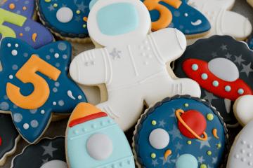 Astronaut / Space Birthday Cookies