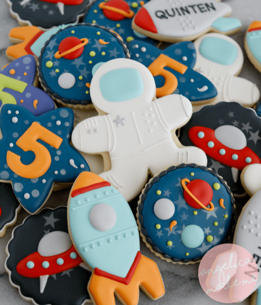 Astronaut / Space Birthday Cookies
