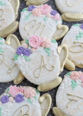 Tea Party Bridal Shower Cookies