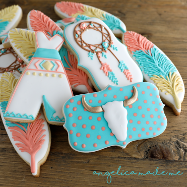 Boho / Tribal Decorated Cookie Set