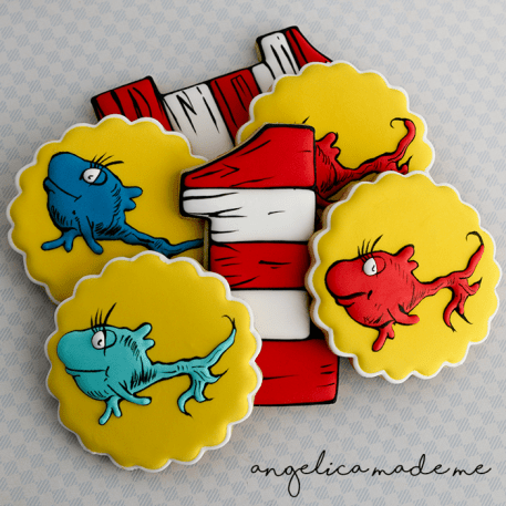 Dr. Seuss One Fish Two Fish Birthday Cookies