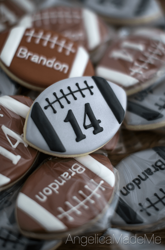Football Birthday Cookies
