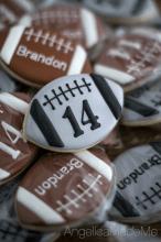 Football Birthday Cookies