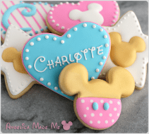 Gold Mickey Mouse Baby Shower Cookies