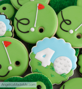 Golf Themed Birthday Cookies