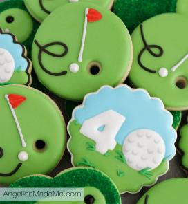 Golf Themed Birthday Cookies