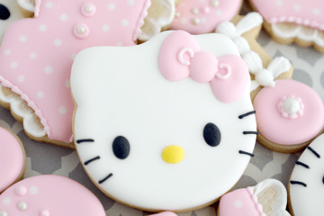 Hello Kitty Baby Shower Cookies