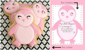 Pink Penguin Cookies
