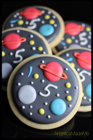 Space Themed Sugar Cookies
