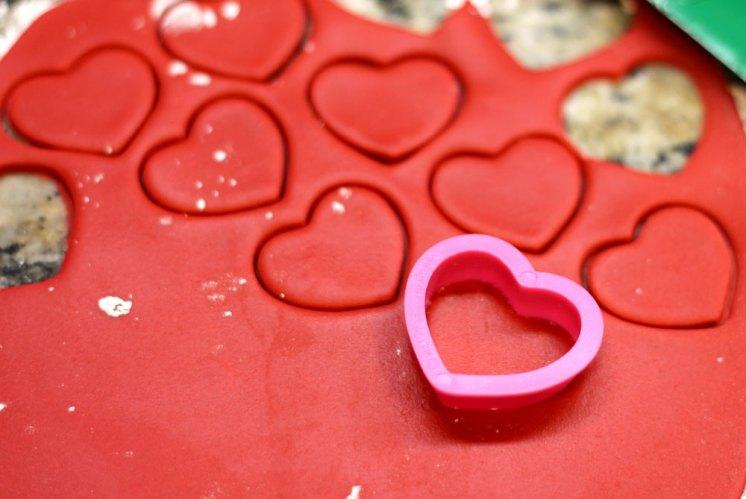 Red Fondant Hearts