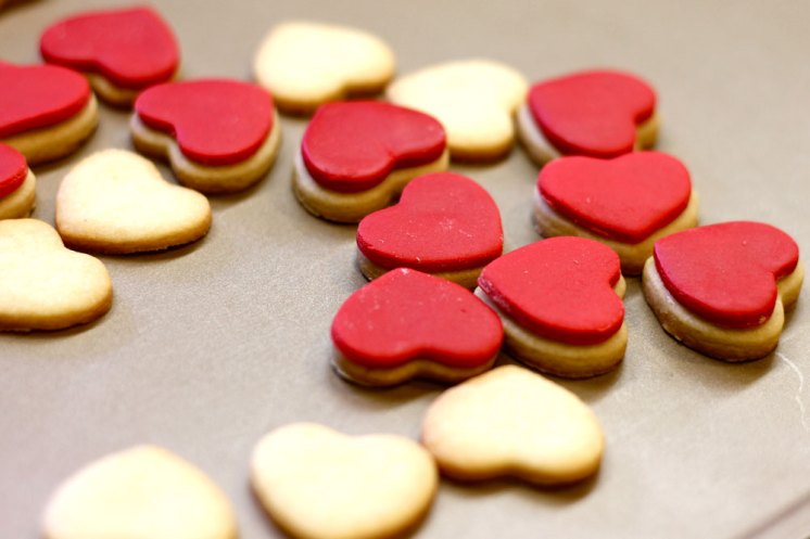 Red Heart Cookies