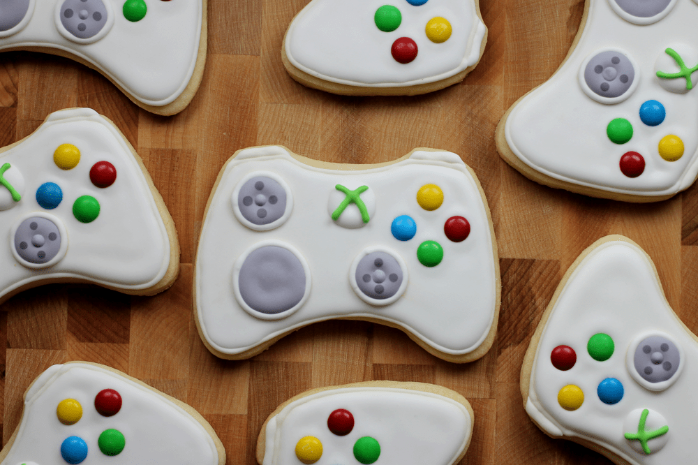 Xbox Game Controller Sugar Cookies