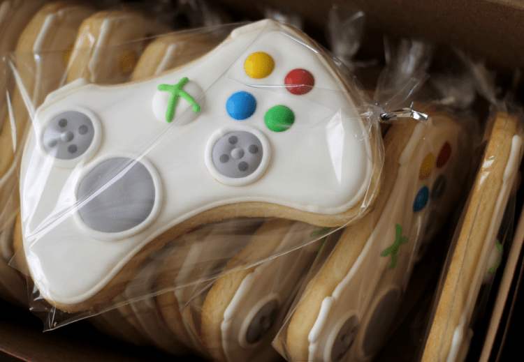 xbox-controller-sugar-cookies-bag
