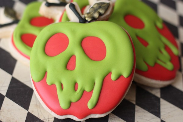 Poison Apple Decorated Cookies