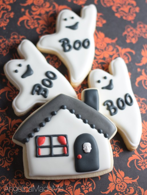 Halloween-Haunted-House-Ghost-Sugar-Cookies