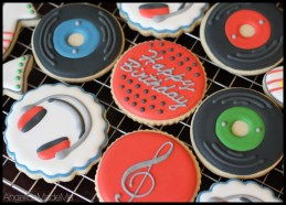 Music Themed Sugar Cookies