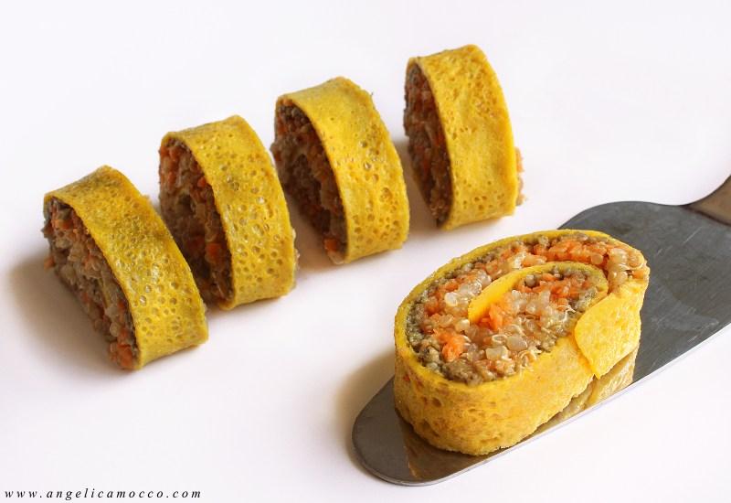 girelle di omelette con quinoa e funghi (1)
