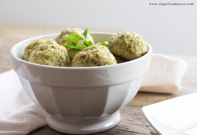 Polpette di tacchino e broccoli cotte al forno