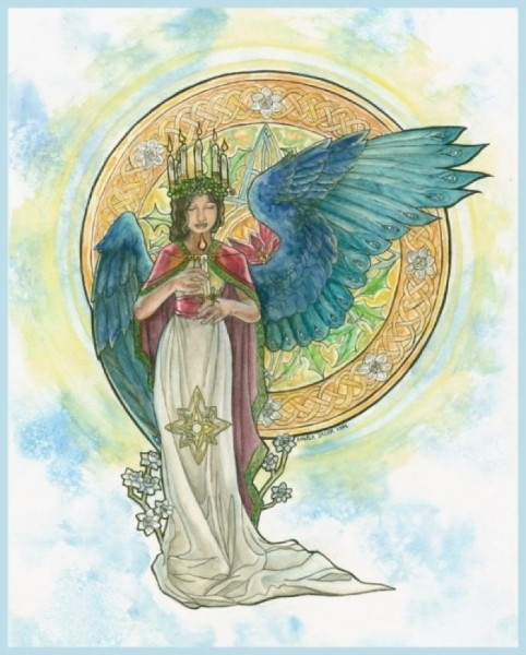 Spirits Of Winter Angelic Shades Art Nouveau And
