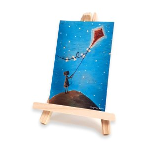 Dreams to the stars - mini art print
