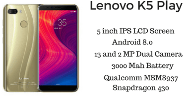 Lenovo K5 Play - Lenovo K5 Play Review ( Full Specifications and Price )