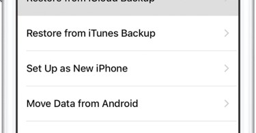 Transfer new iPhone