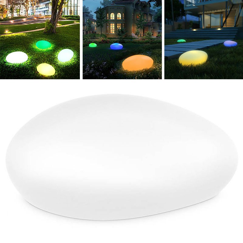 LED Garden Lights Stone Lamp Outdoor Eco-Friendly Buried Light LED Ball Light RGB Home Decor Poolside Party