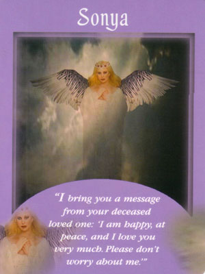 Sonya  Angel Card Extended Description - Messages from Your Angels Oracle Cards by Doreen Virtue