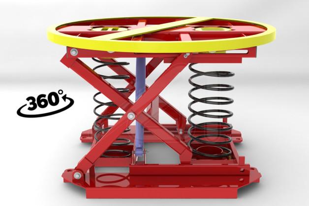 Mesa de carga manual ergonmica y giratoria  Ergomir 360
