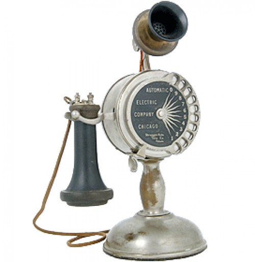 small resolution of automatic electric candlestick dial telephone