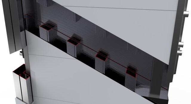 Estructura interior puerta seguridad homologada