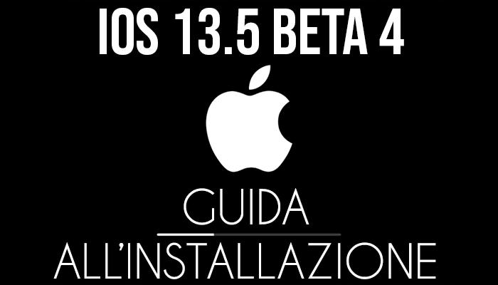 iOS 13.5 Beta 4 - installazione