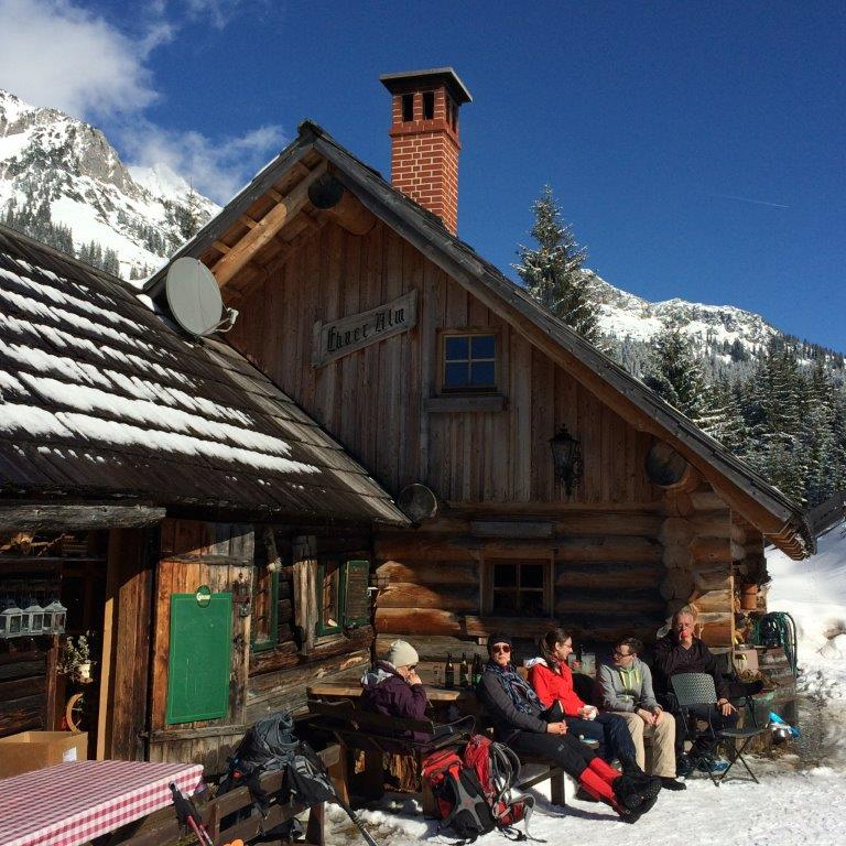 Johnsbacher Almenrunde mit Schneeschuhen