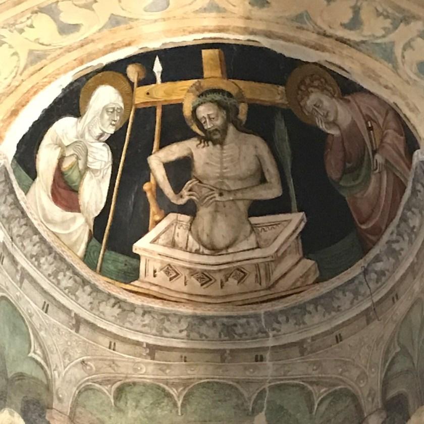 Fresko in der Johanneskapelle