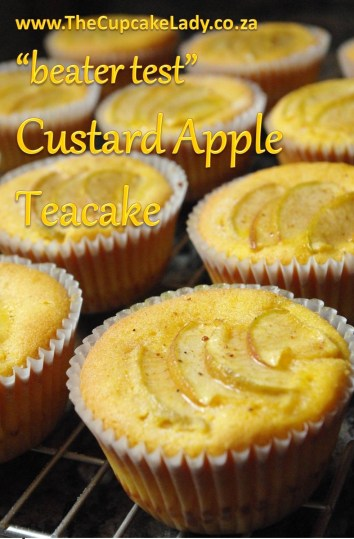 custard apple teacake, cupcake, gourmet cupcake, recipe experiment, beater test