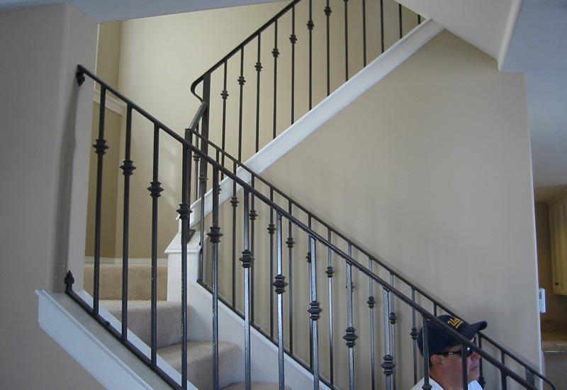 Ornamental Wrought Iron Staircase Railing